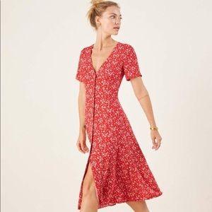 Reformation Locklin Midi Dress Floral Merci Print
